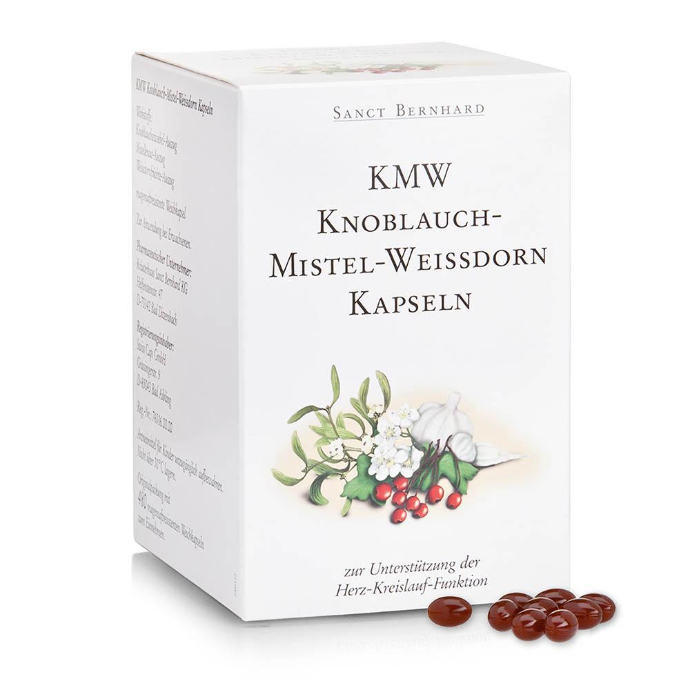 Viên nang từ tỏi tầm gửi và táo gai KMW Garlic Mistletoe Hawthorn