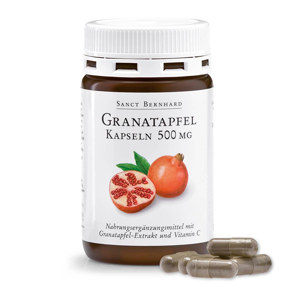 Viên nang tăng đề kháng chiết xuất lựu đỏ Pomegranate Capsules 500 mg