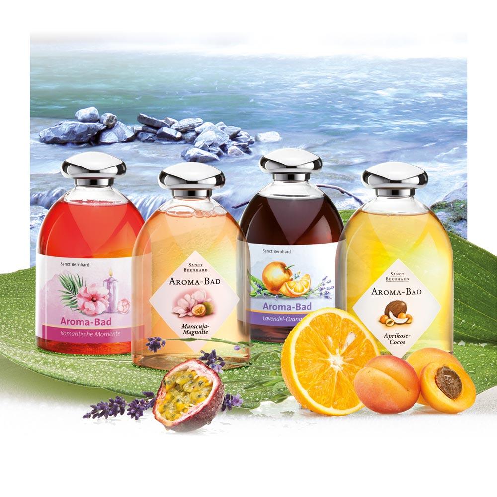 Bộ 4 sản phẩm sữa tắm thiên nhiên Aroma Baths
